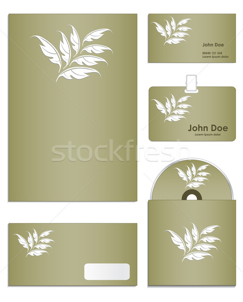 Stationery set design in editable vector format Stock photo © place4design