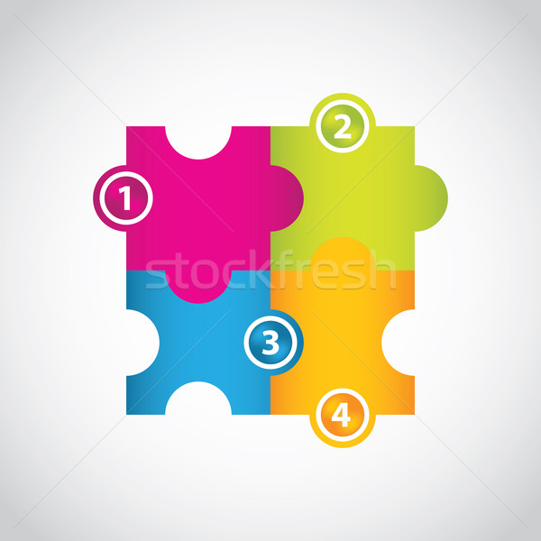 special puzzle vector with numbered buttons Stock photo © place4design