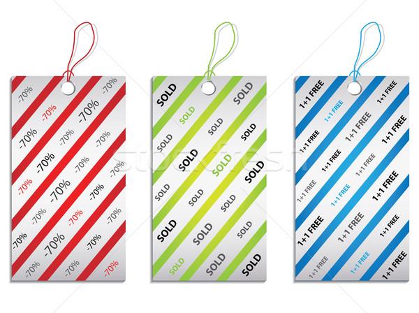 цен тег набор изолированный белый Сток-фото © place4design