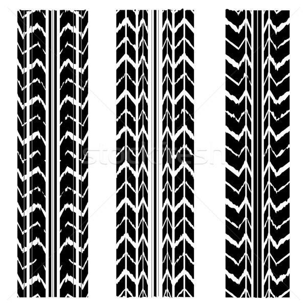 special black tire track design Stock photo © place4design