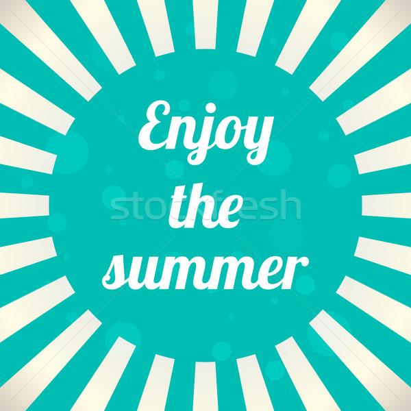 élvezi nyár eps10 nap háttér napfelkelte Stock fotó © place4design