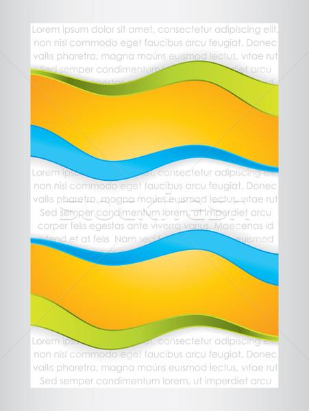 Résumé affaires design nouvelles bleu couleur Photo stock © place4design