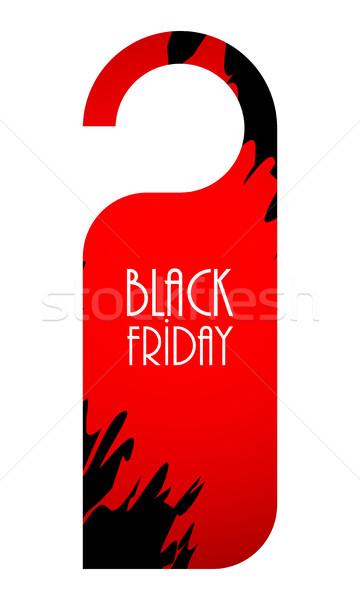 черная пятница Label специальный реклама бумаги знак Сток-фото © place4design