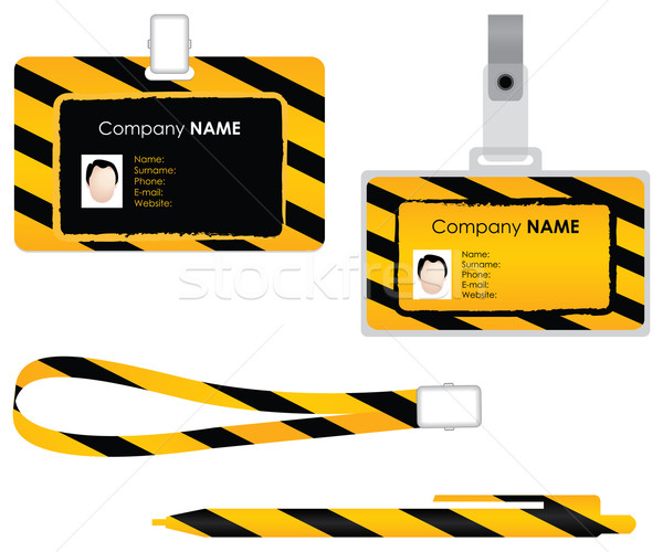 Stock photo: Name tag for id card - special design
