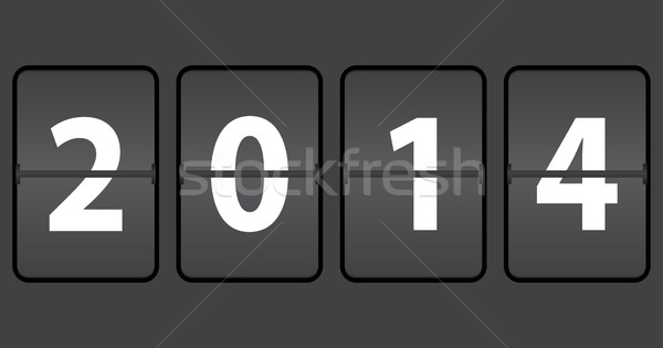 mechanical timetable with new year 2014 Stock photo © place4design
