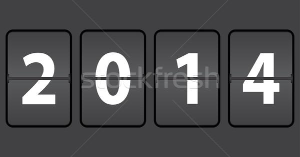 Mecânico horário ano novo 2014 tecnologia tempo Foto stock © place4design