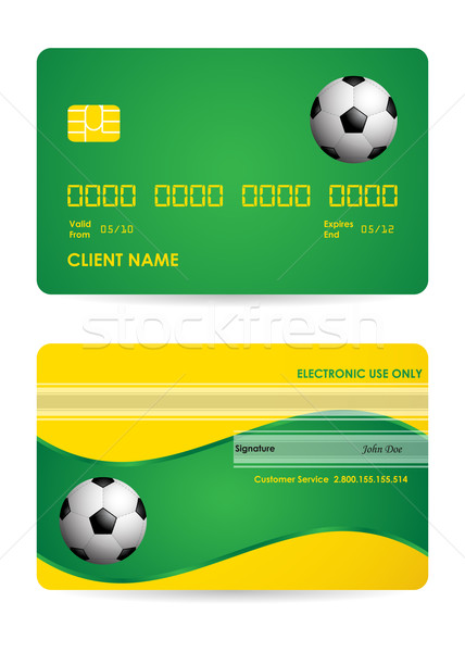 bank card with a special soccer ball design, vector,EPS10 Stock photo © place4design