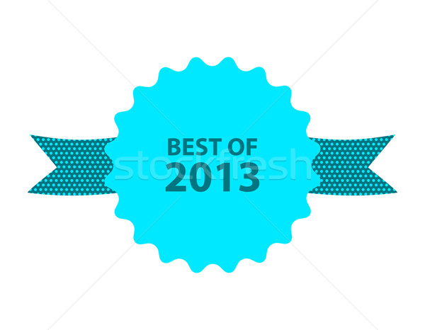 blue best of 2013 badge with ribbon Stock photo © place4design