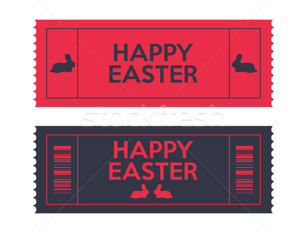 admit one Easter tickets Stock photo © place4design
