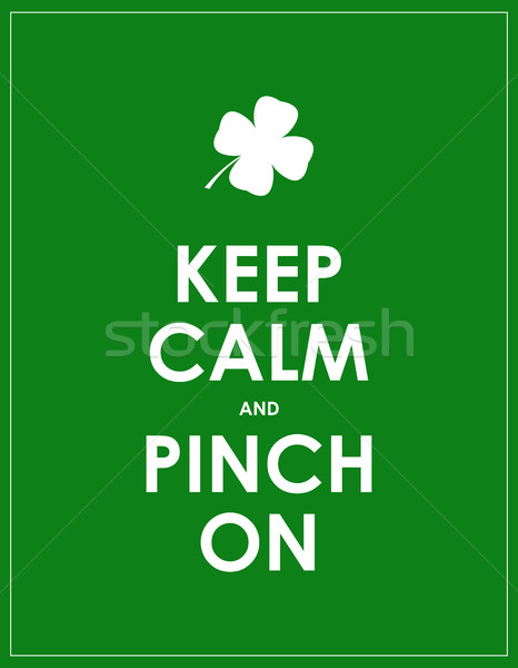 keep calm banner for St. Patrick's day Stock photo © place4design