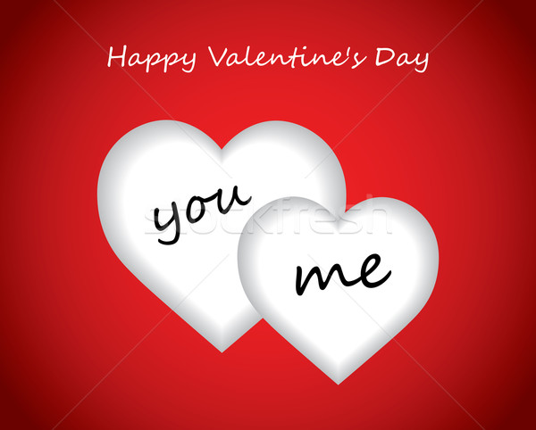 Valentine's day background with hearts Stock photo © place4design