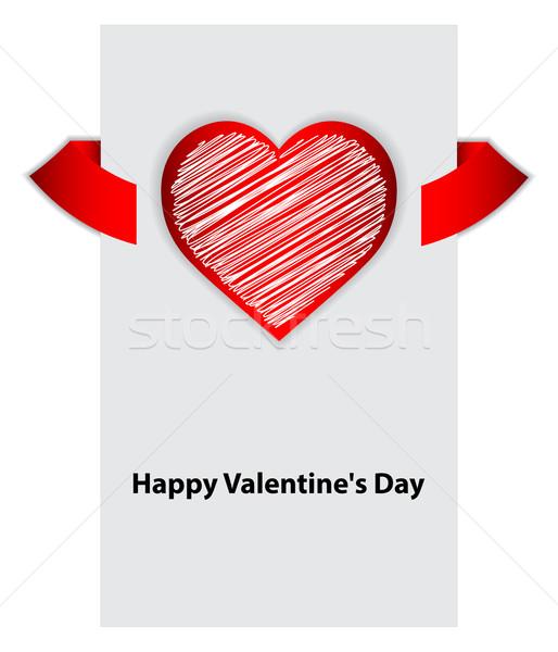 Dia dos namorados vetor especial projeto papel coração Foto stock © place4design