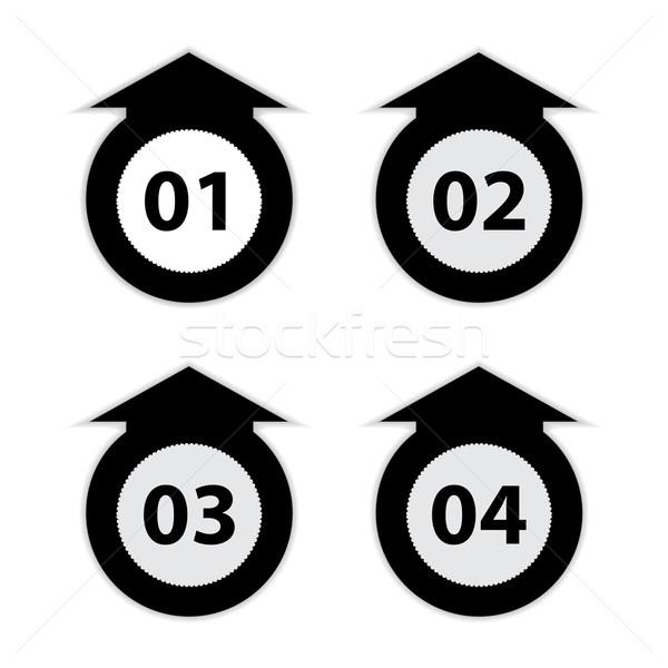 Stockfoto: Pijl · nummers · zwart · wit · business · achtergrond