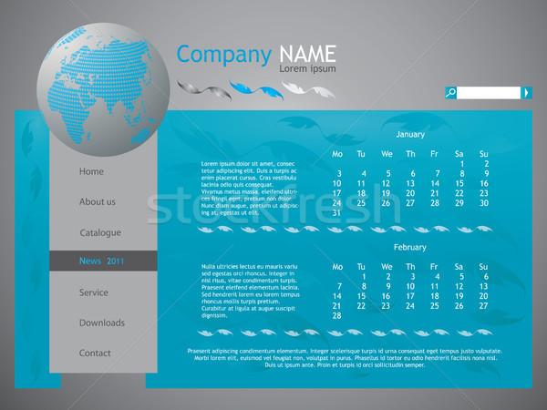 blue web site design template - vector Stock photo © place4design