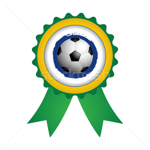 badge with a special soccer ball design, vector,EPS10 Stock photo © place4design
