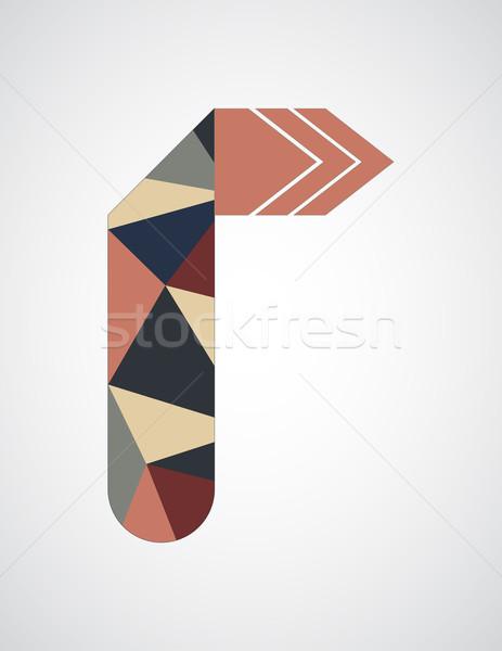 аннотация оригами стрелка треугольник бумаги Сток-фото © place4design