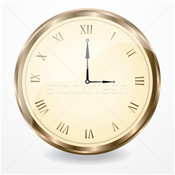 Antichi clock business ufficio metal segno Foto d'archivio © place4design