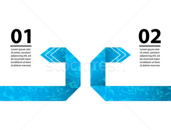 Speciaal business Blauw origami ontwerp papier Stockfoto © place4design