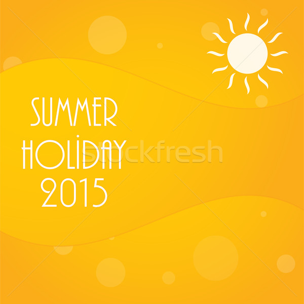 abstract yellow summer background, vector illustration, eps10 Stock photo © place4design
