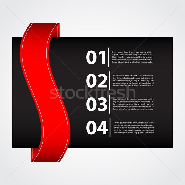 черный красный бизнеса брошюра бумаги книга Сток-фото © place4design