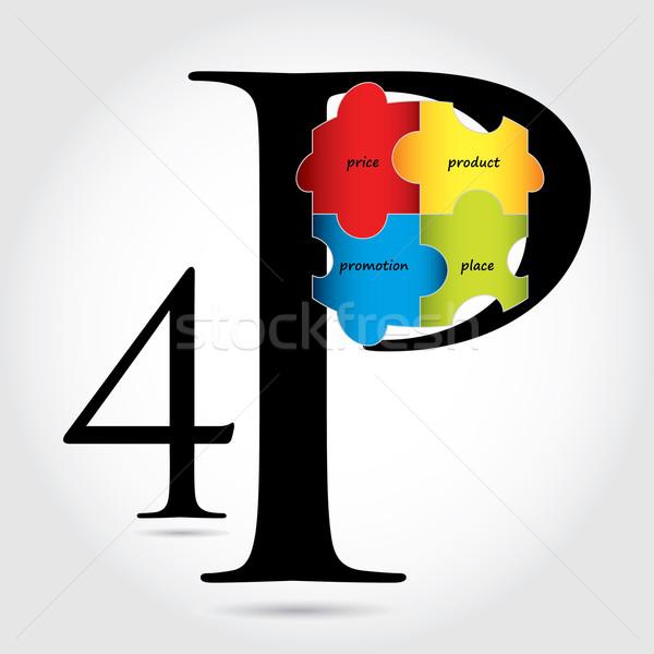 special marketing mix design Stock photo © place4design