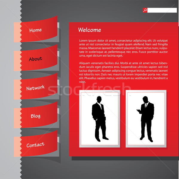 Taped website with photo Stock photo © place4design
