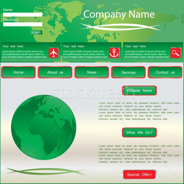 Green vector web site design template  Stock photo © place4design