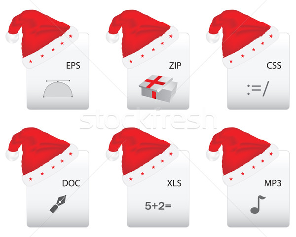 Web document icon with Christmas design Stock photo © place4design