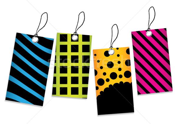 Vektor ár címkék szett különleges fekete Stock fotó © place4design