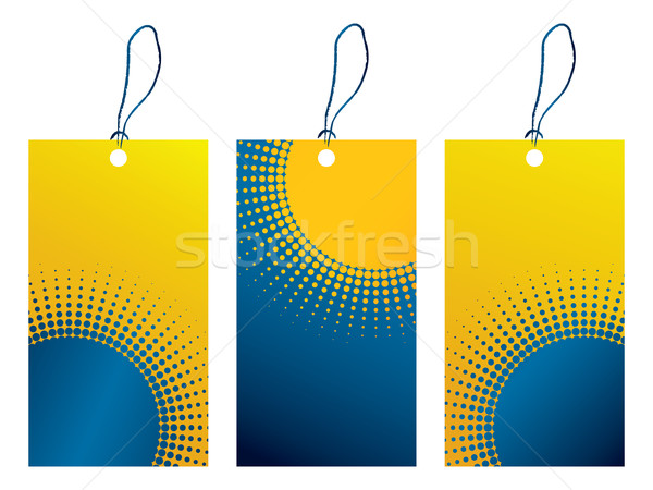 price tag with dotted design Stock photo © place4design