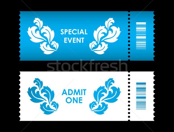 один билета специальный цветок дизайна бумаги Сток-фото © place4design