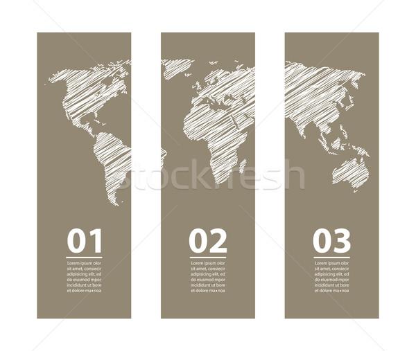 Vetor banners especial esboço projeto globo Foto stock © place4design