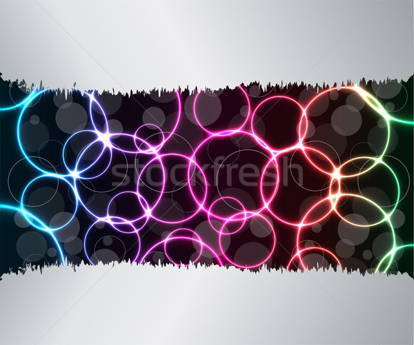 Soyut plazma etki dizayn uzay mavi Stok fotoğraf © place4design