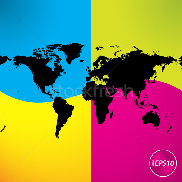Speciale abstract nero mappa business mondo Foto d'archivio © place4design