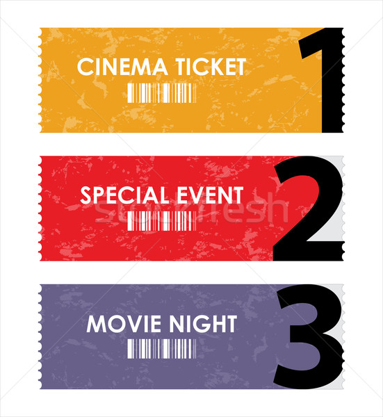 vector illustration  of different movie tickets Stock photo © place4design