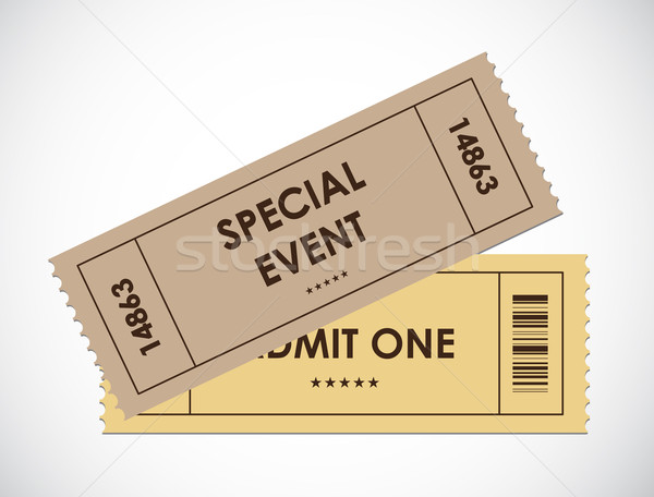 special old entrance tickets Stock photo © place4design