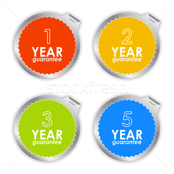 colorful guarantee labels on white background Stock photo © place4design