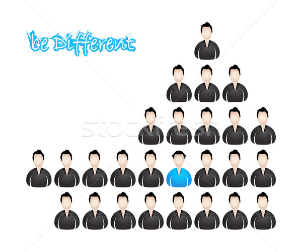 be different, vector illustration with special design Stock photo © place4design