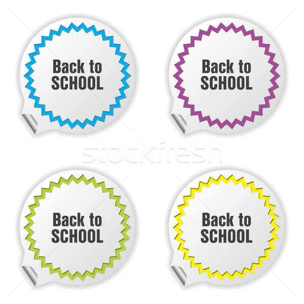 back to school tickets with special design Stock photo © place4design