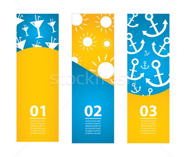 Especial verão banners eps10 feliz sol Foto stock © place4design
