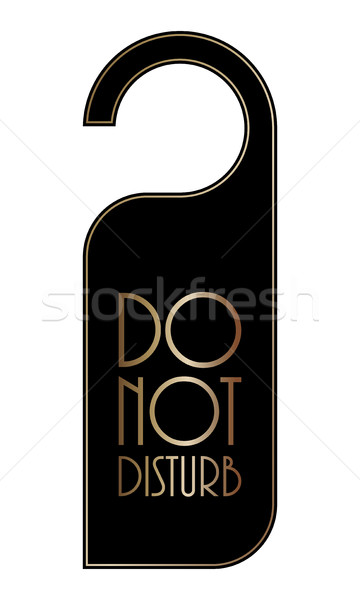 do not disturb door hanger, special black-gold design Stock photo © place4design