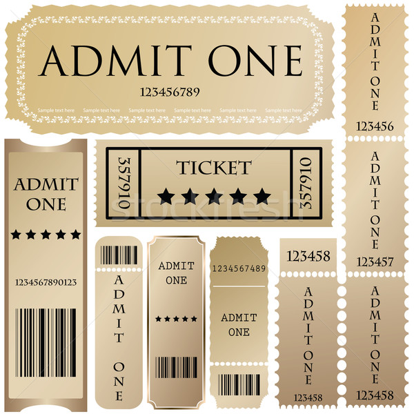 vector set: tickets in different styles Stock photo © place4design