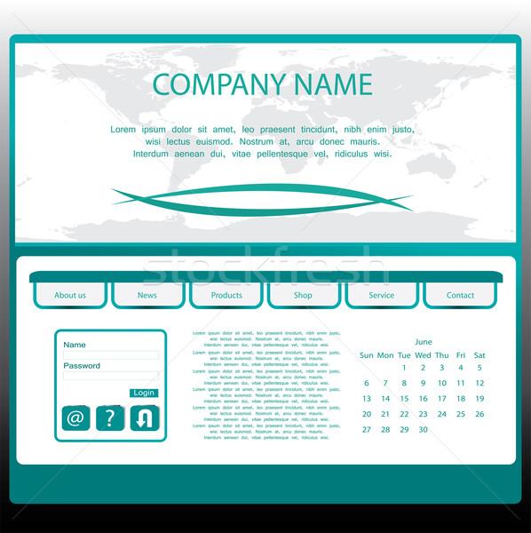 Web site design template Stock photo © place4design