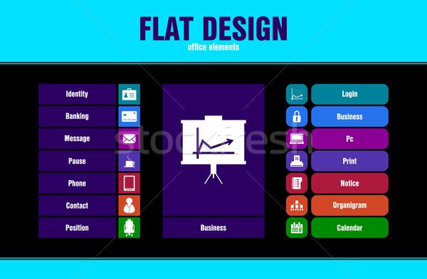 Speciale ui icone web mobile applicazioni Foto d'archivio © place4design