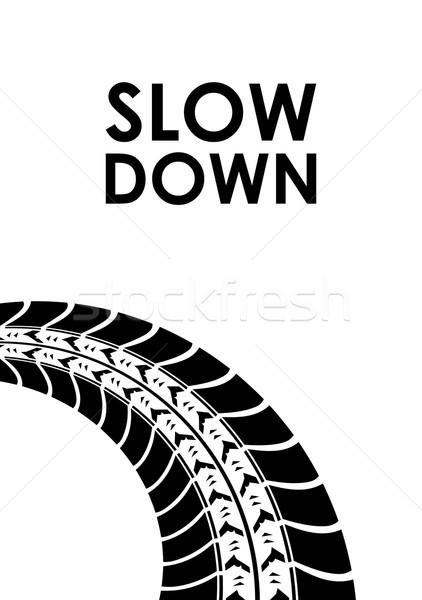 замедлять вниз шин трек улице дизайна Сток-фото © place4design