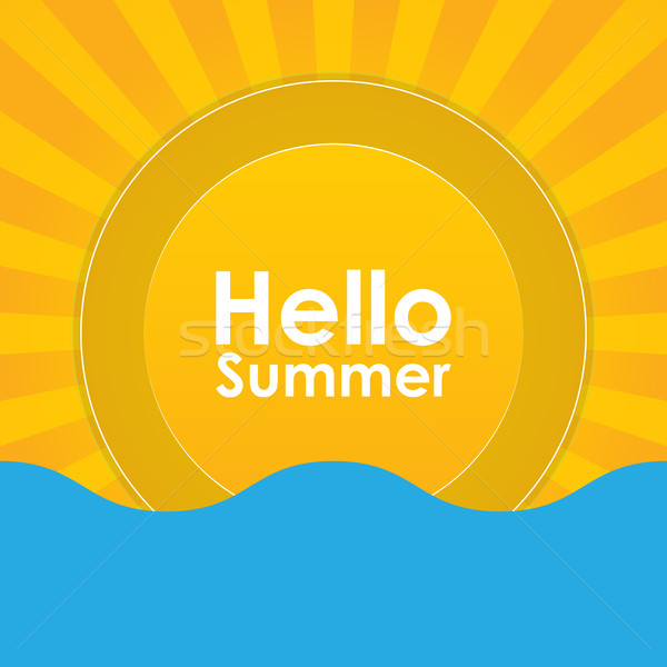 Summer holiday abstract background, energy, relax and spa,  Stock fotó © place4design