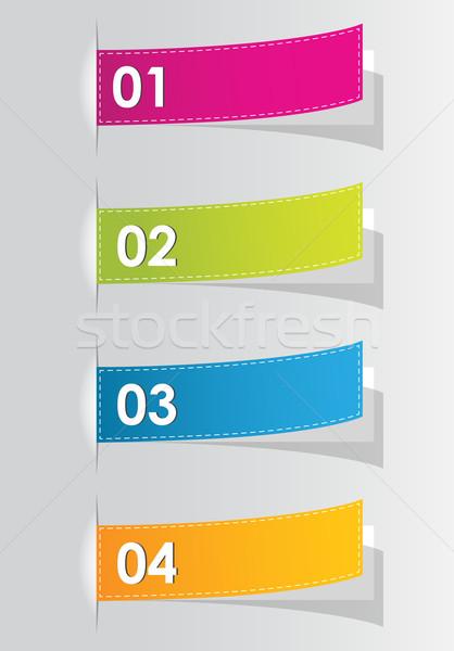 Stockfoto: Ingesteld · kleurrijk · stickers · website · business · ontwerp