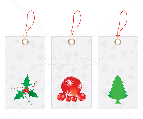 Stock photo: Price tags - Christmas edition