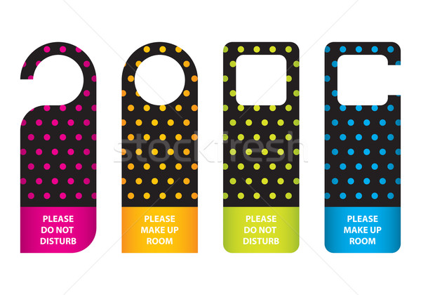 special hotel do not disturb door hanger with dotted design Stock photo © place4design