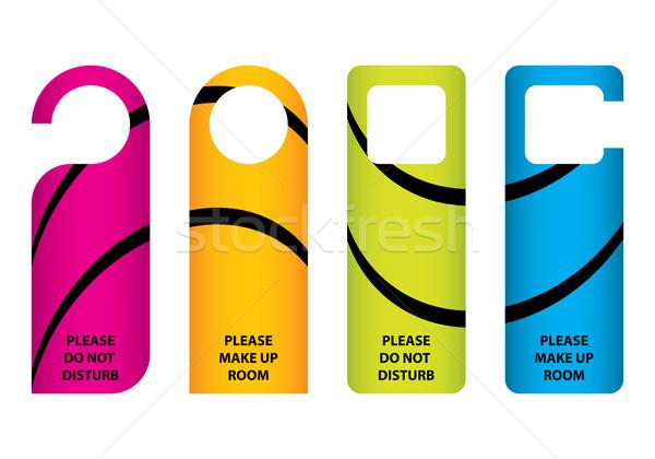 hotel do not disturb door hanger with special design Stock photo © place4design